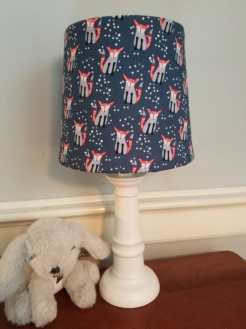 Animal Lamp For Nursery Fox Nursery Lamp Woodland Nursery Lamp Fox Nursery Fox Accent Table Desk Lamp Forest Animal Nursery Lamp Baby Lamp Baby Boy Girl Gift