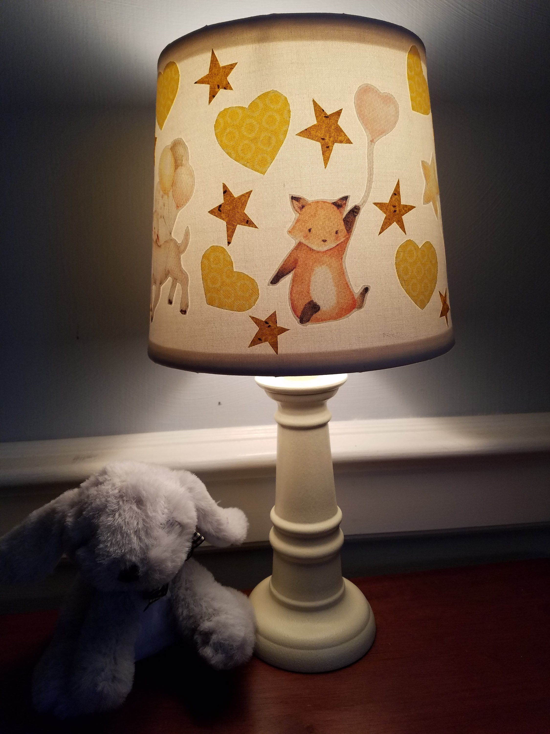 Animal Lamp For Nursery Fox Lamb Bunny Nursery Lamp Animal Baby Lamp Baby Animal Lamp Fox Accent Lamp Lamb Accent Lamp Bunny Accent Lamp Gender Neutral Lamp