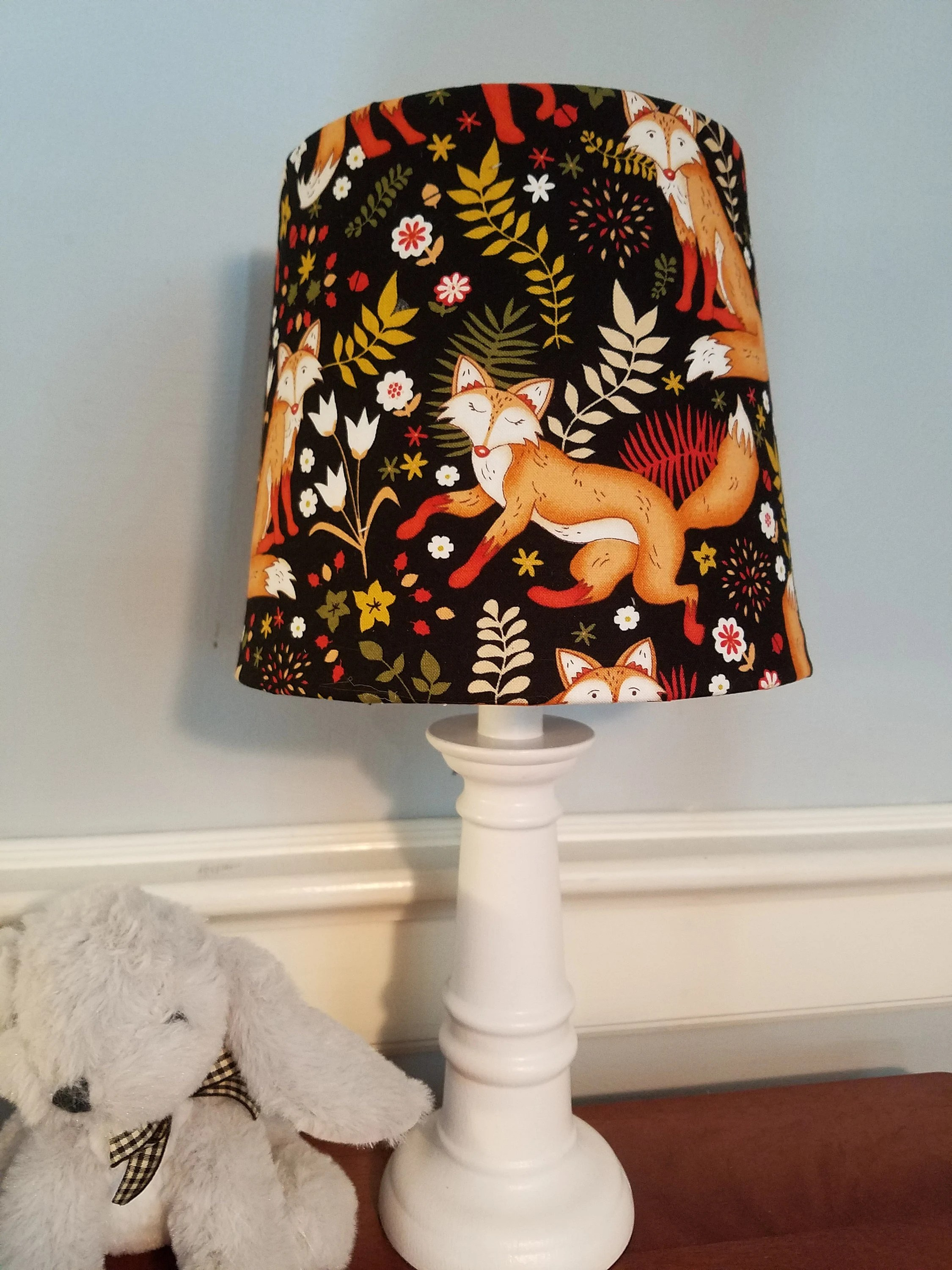 Animal Lamp For Nursery Fox Nursery Lamp Woodland Accent Lamp Animal Nursery Lamp Woodland Nursery Decor