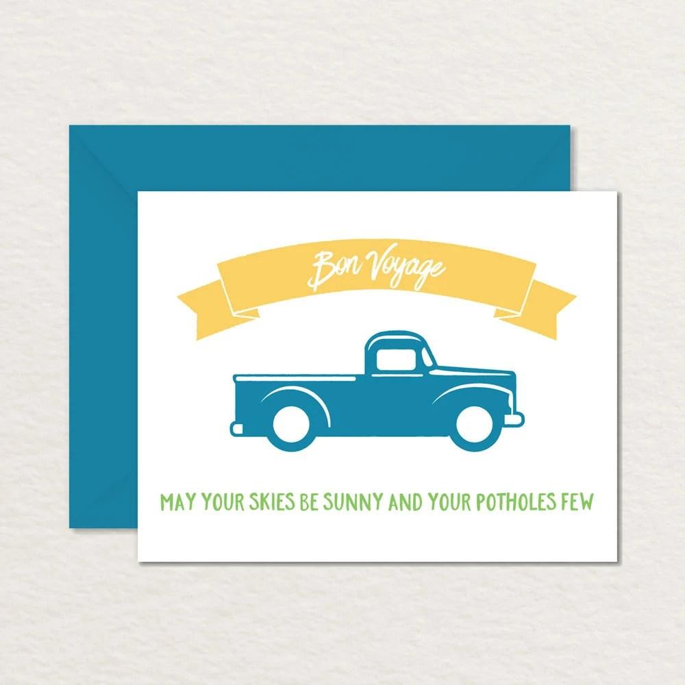 Printable Farewell Card / Printable Bon Voyage Card / Sunny Etsy