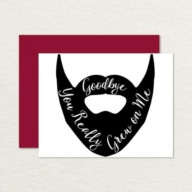 Funny Goodbye Card / Printable Goodbye Card / Farewell Card / Etsy