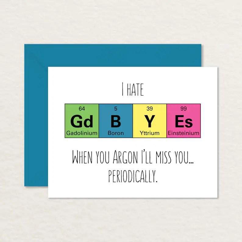 Goodbye Card Printable / Funny Goodbye Card / Nerdy Goodbye Etsy