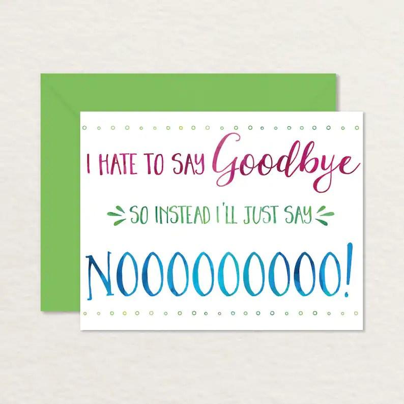 Printable Goodbye Card / Funny Goodbye Card / Printable Etsy