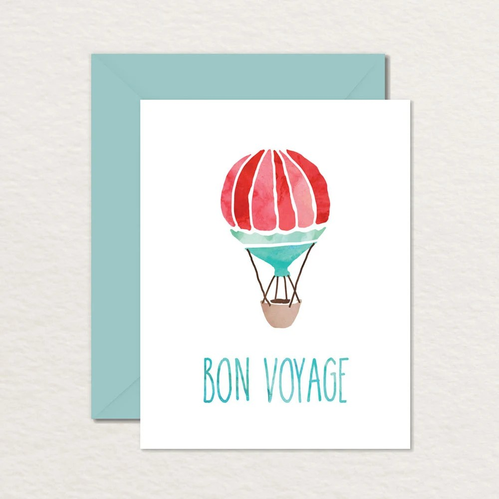 Printable Goodbye Farewell Card / Printable Bon Voyage Card / Etsy