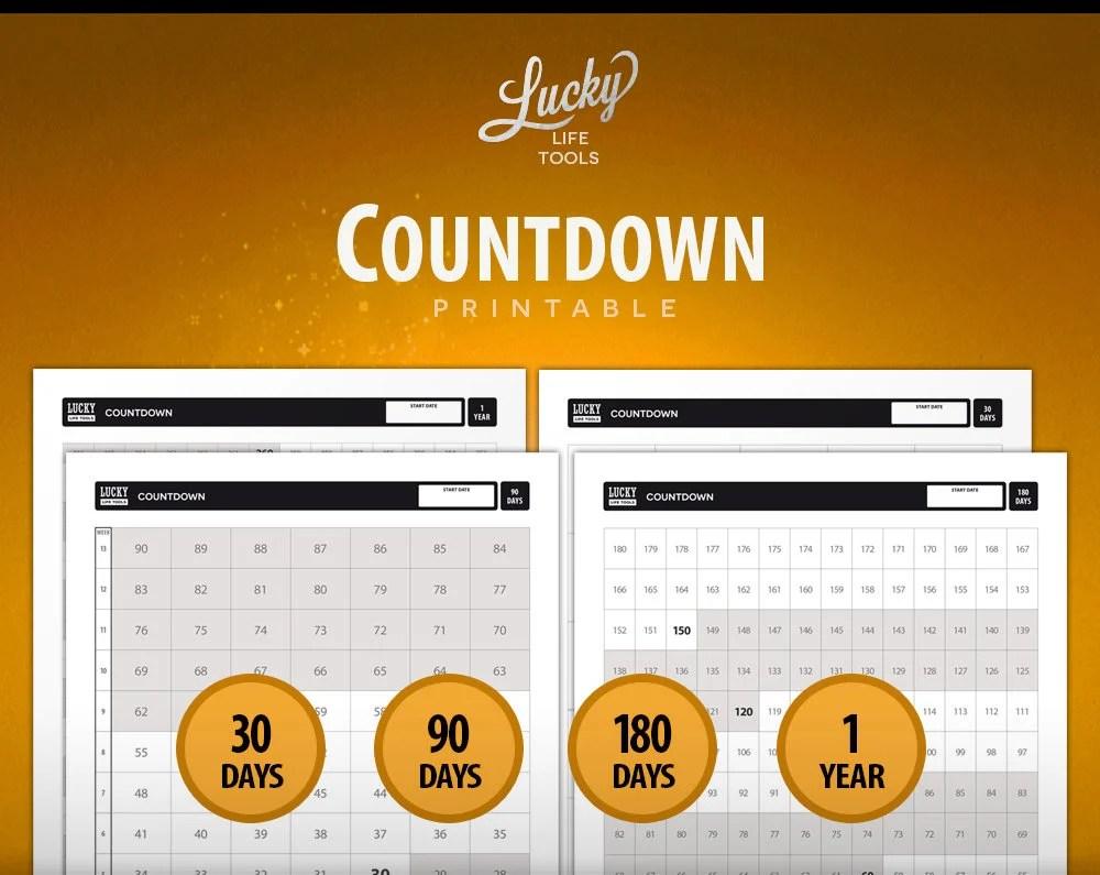 Countdown Don\u0027t break the chain Calendar  Day Etsy