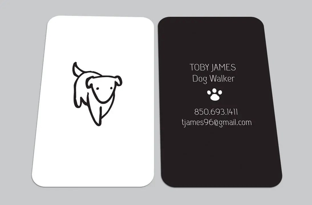 CUSTOM DIGITAL CARDS Modern Dog Walker Walking Business Card Etsy