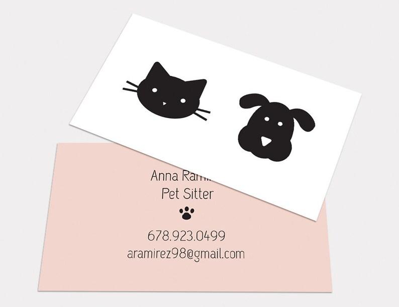 CUSTOM DIGITAL CARDS Modern Minimalist Cute Cat Dog Business Etsy
