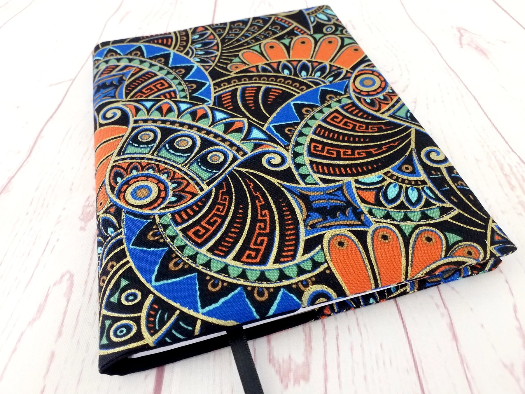 Art Deco Style Notebook Fabric A5 Notebook Cover Art Deco Journal Cover