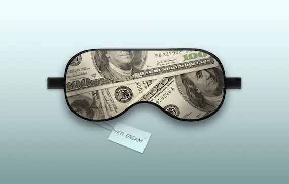Money Sleep Mask Designer sleep aid that is fun to use and Etsy