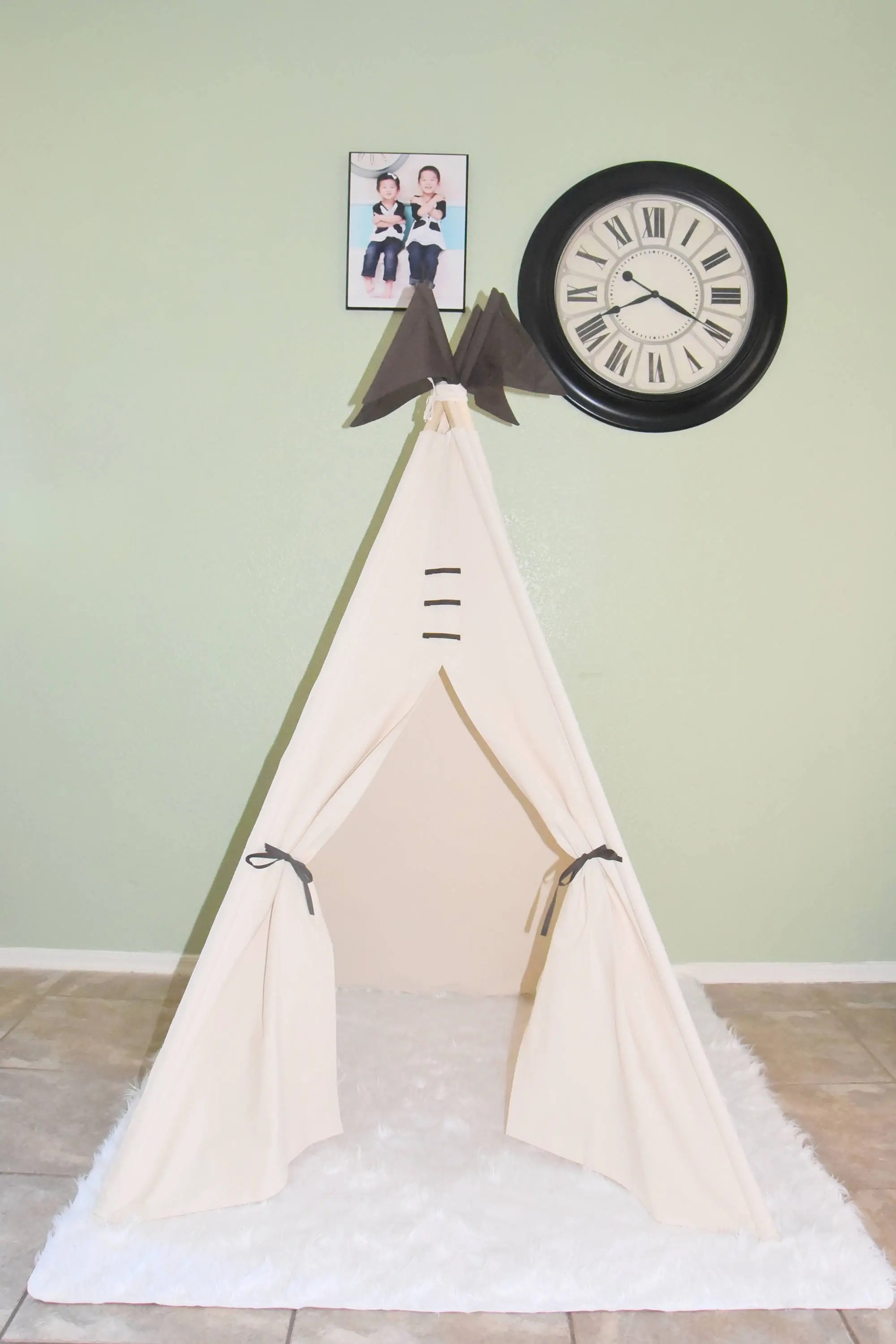 Kids Play Tent Ready To Ship Heaven Canvas Plain Kids Teepee Kids Play Tent Childrens Play House Tipi Kids Room Decor