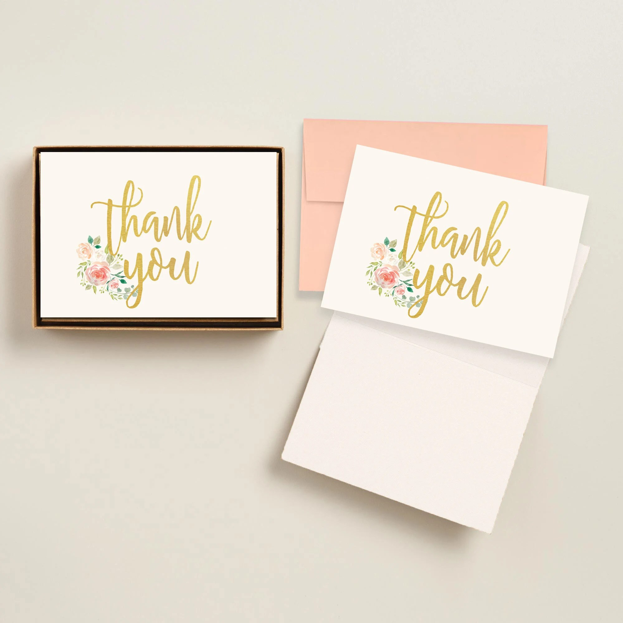 Printable Thank You Cards, Printed Personalized Engagement Thank You