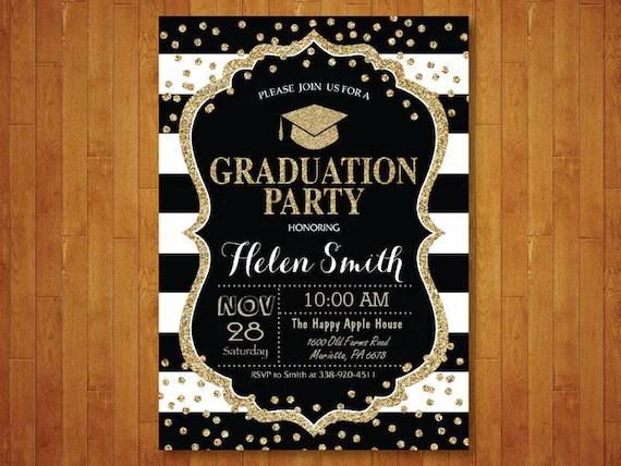 Graduation Party Invitation Graduation Invitation Confetti Etsy