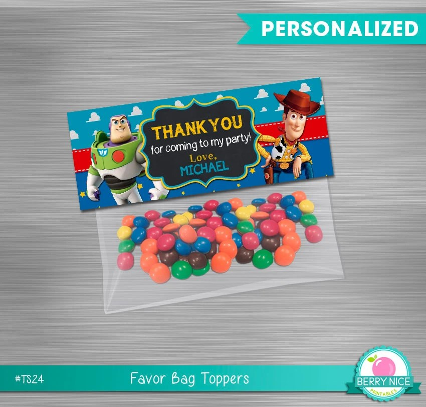 Toy Story Bag Toppers Print Yourself, Toy Story Printable Bag