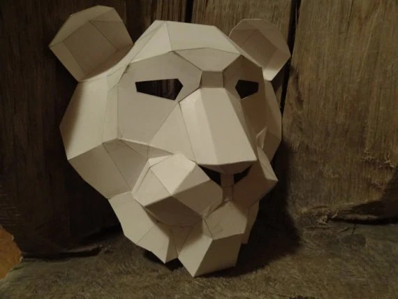 Make Your Own Lion mask from recycled paper PDF pattern PDF Etsy