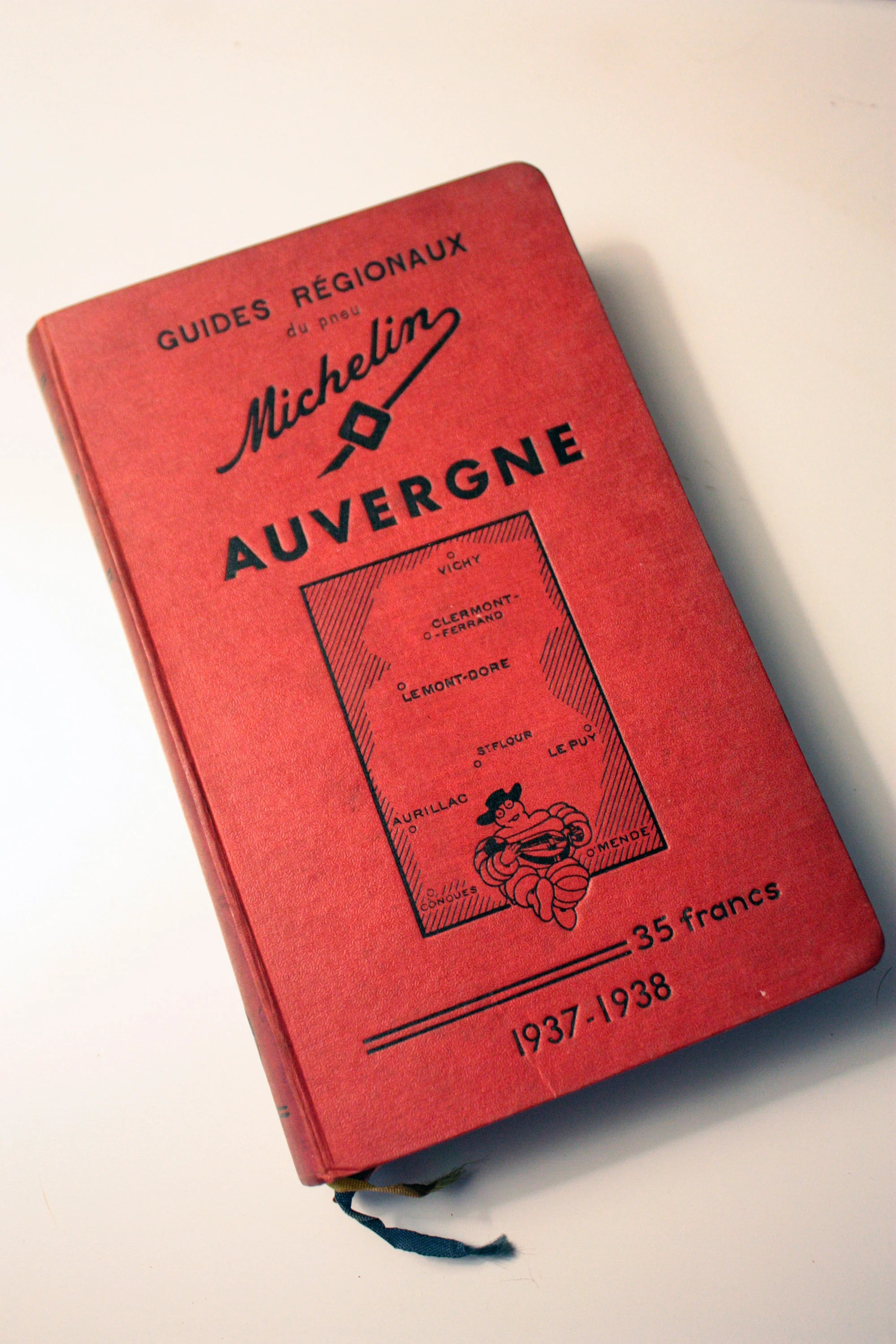 Top Pneu St Priest French Vintage 1938 Original Regional Michelin Guide To Auvergne France