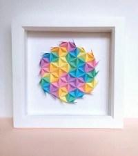 Rainbow Origami Wall Art Colourful Modular Origami Art 3D ...