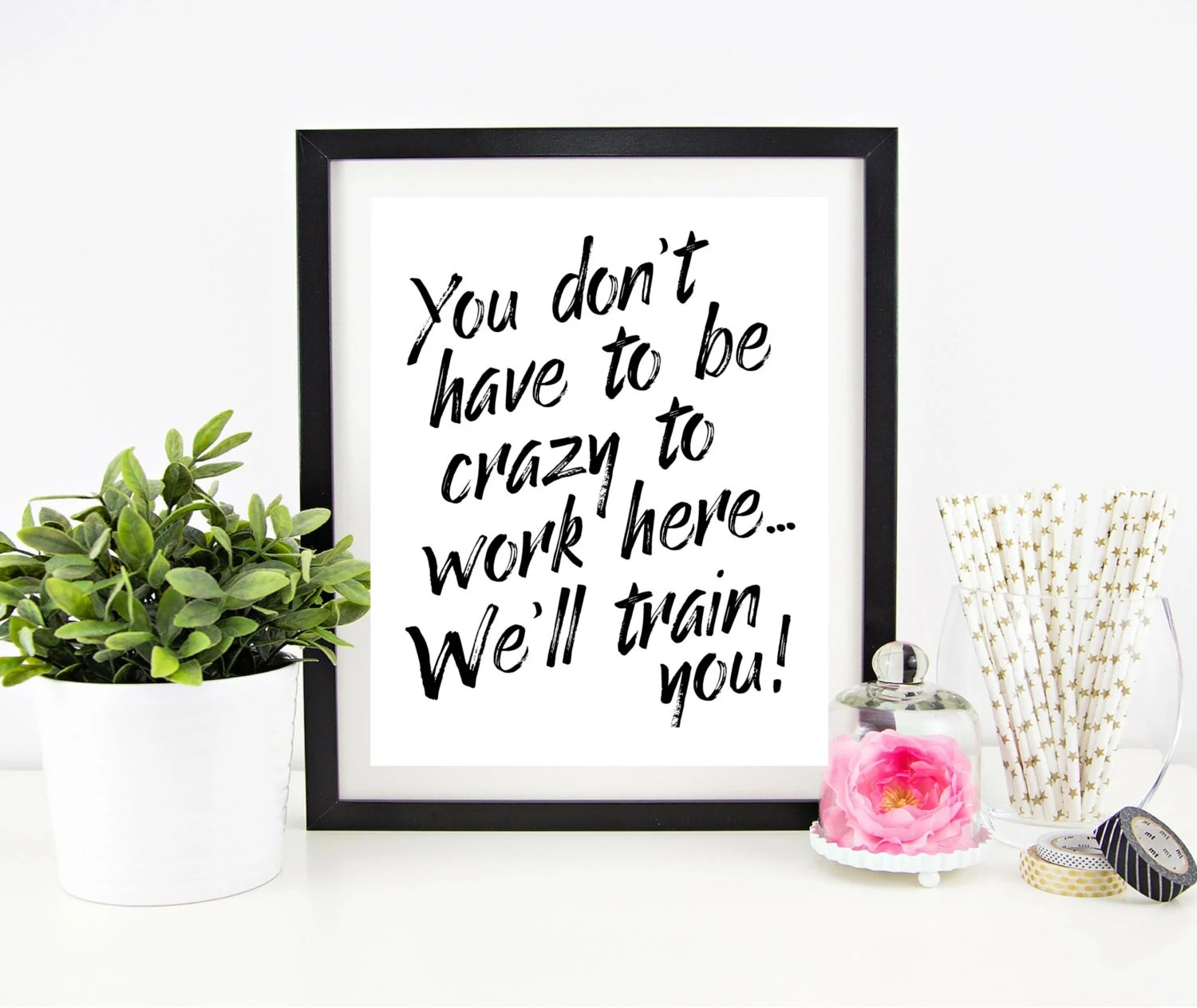 Gutschein Wall Art Cubicle Decor Printable Office Wall Art Funny Office Signs