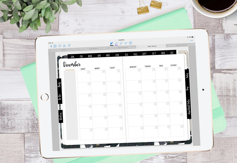 Stylish Planner™ Deluxe Neutral 12-Month Digital Planner Etsy