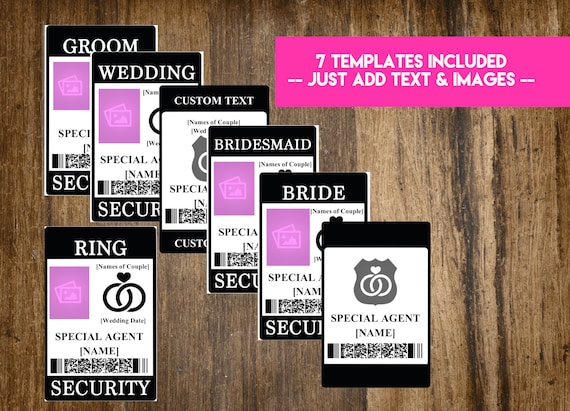 INSTANT DOWNLOAD Ring Security Badge / Wedding Security Suite Etsy