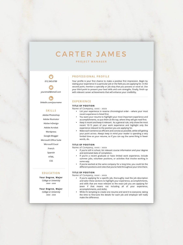 free resume templates etsy