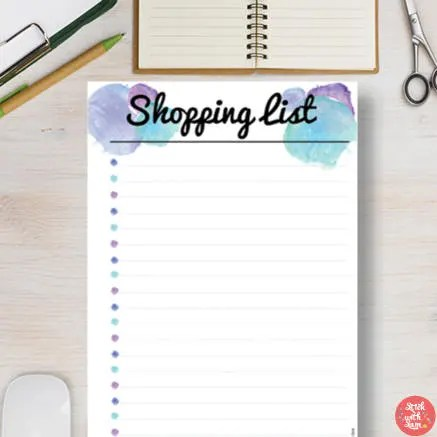 SHOPPING LIST Printable Template This planner insert includes Etsy
