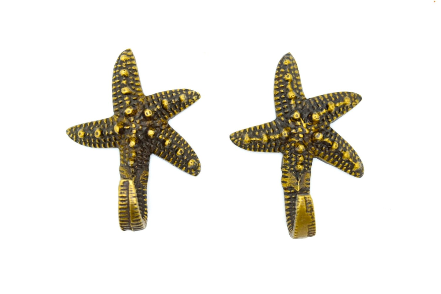 Clothes Hooks Starfish Wall Hooks Childrens Room Decor Brass Antique Hook Bathroom Towel Hook Coat Clothes Hooks Cabin Porch Hook Kids Clothes Hook