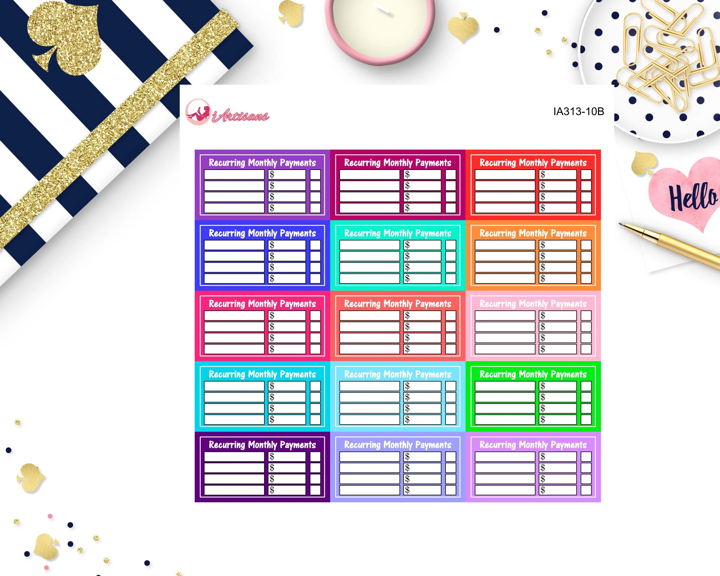 Recurring Payment Trackers Budget Stickers Recurring Etsy - budget trackers
