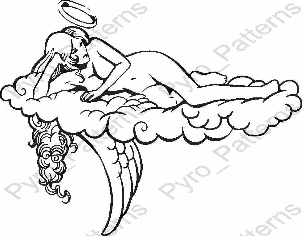Pyrography Wood burning Angel Pattern Printable Stencil Etsy