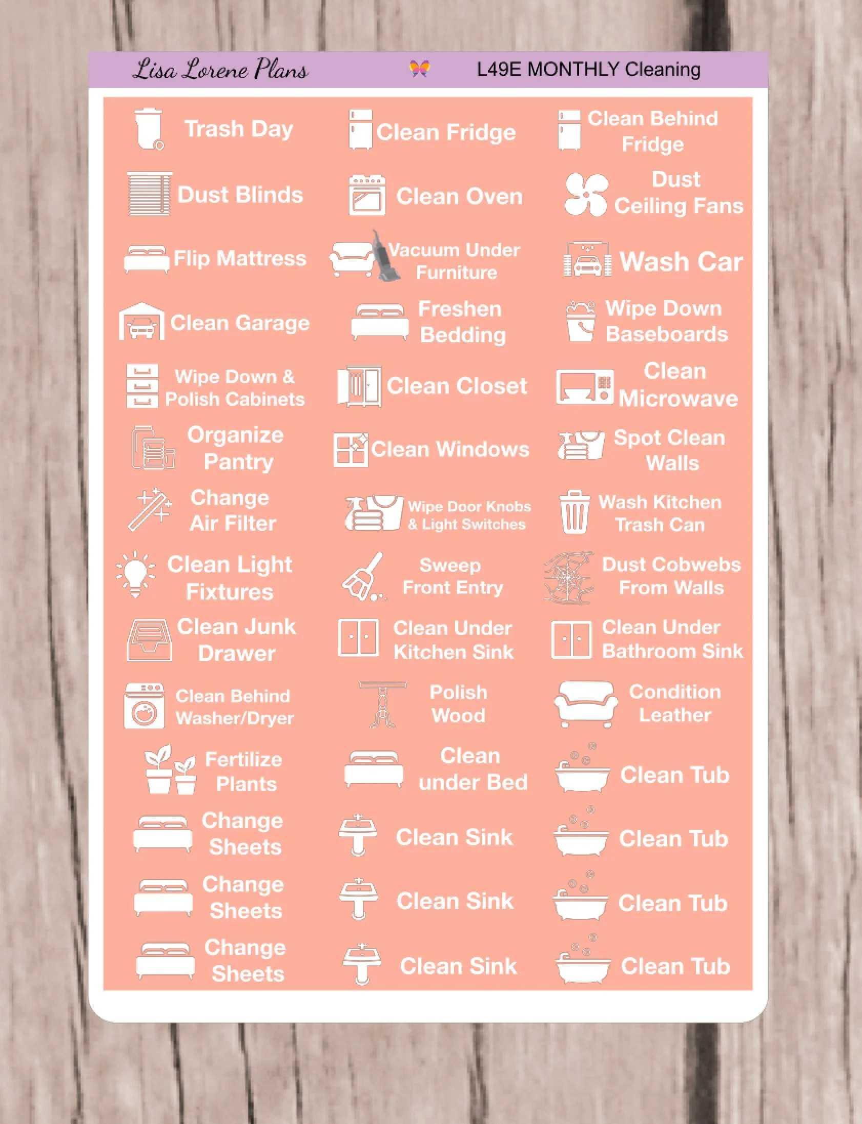 Items similar to May Monthly Cleaning, Housework, Chores Schedule
