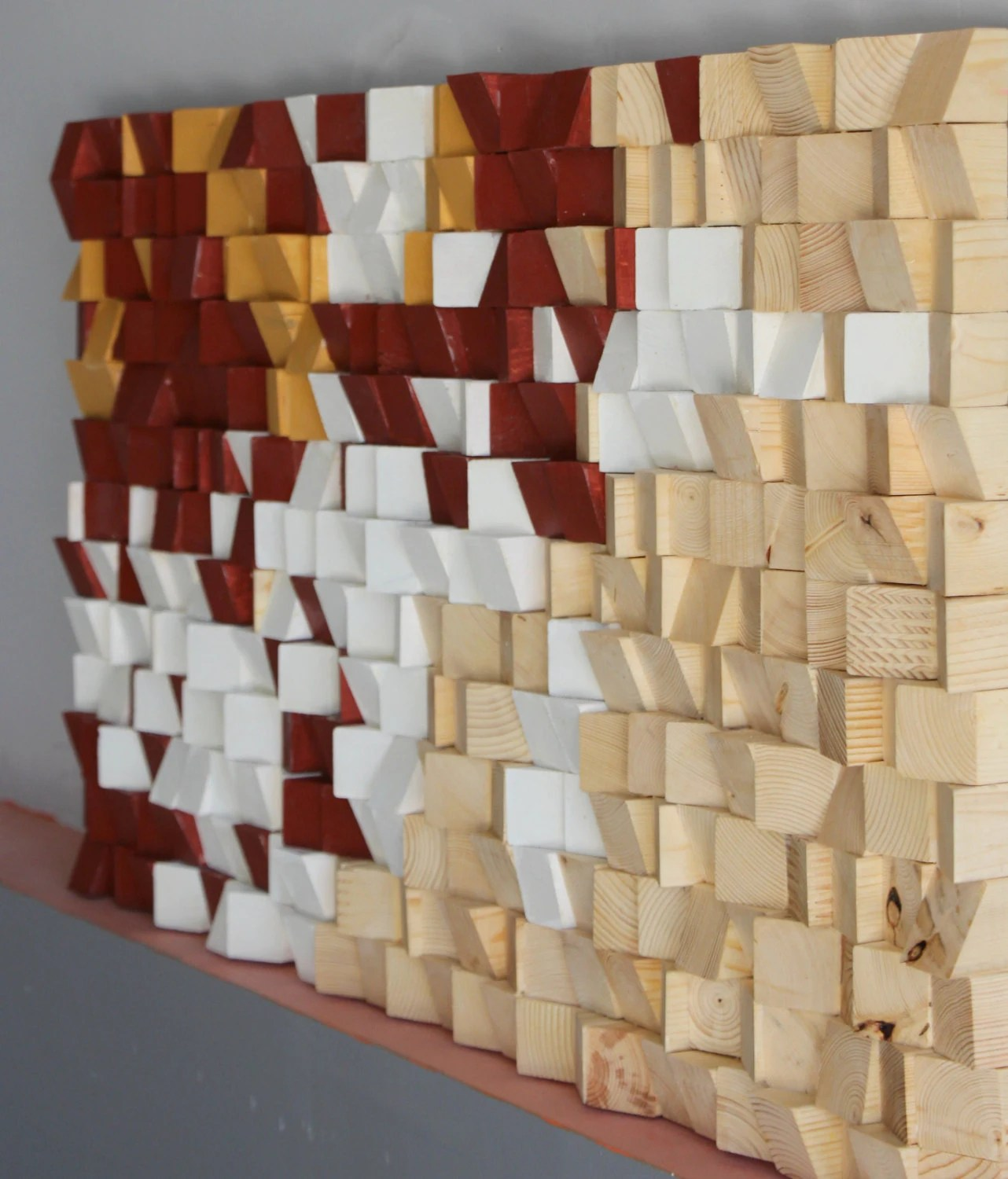 Abstract Wood Wall Art Geometric Reclaimed Wood Wall Art Rustic Wood Mosaic Wood Wall Art Rustic Wood Wall Art Wood Wall Sculpture Abstract Wood Art