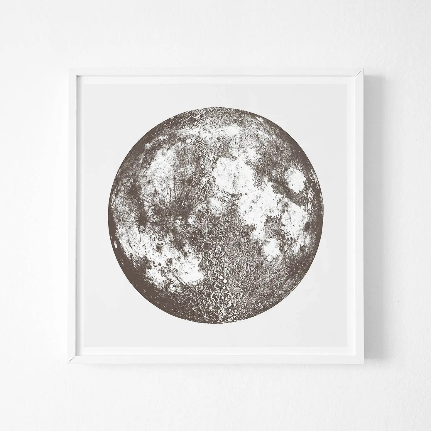 Full Moon Drawing Black And White Full Moon Print Moon Phase Print Full Moon Art Print Inimal Poster Art Large Poster Decor Minimal Art Poster Wall Gallery Decor