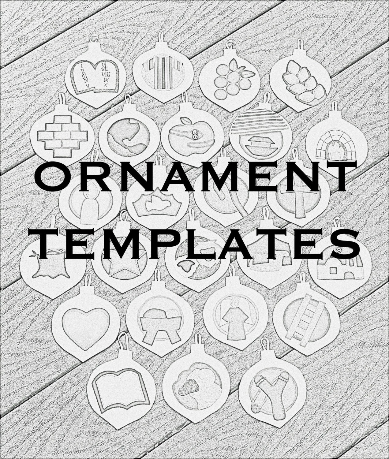 Jesse Tree Ornament Templates/Tutorial SALE Etsy