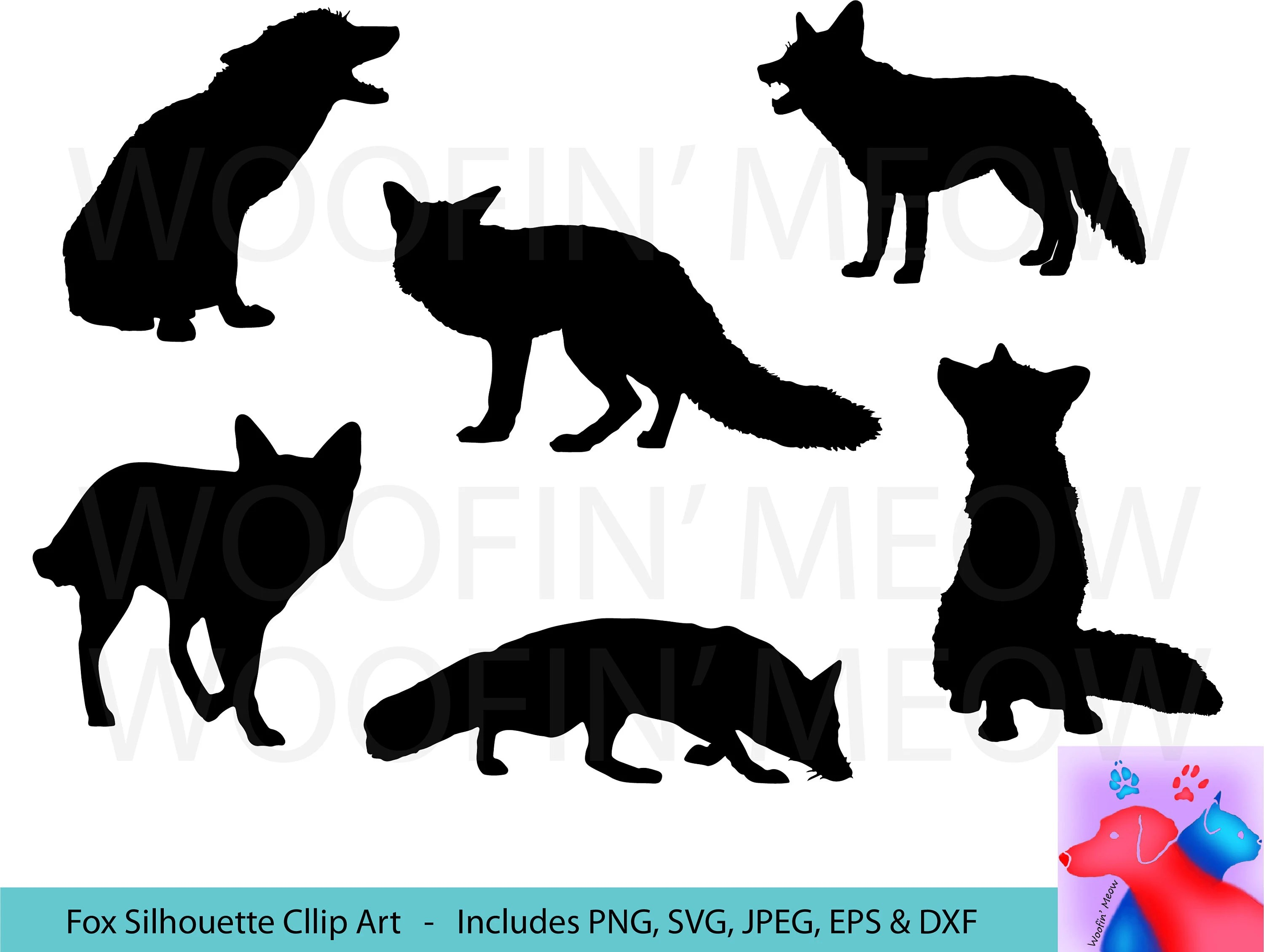 Fox Meubles Algerie Fox Silhouette Svg Clipart Fox Vector Sticker Fox Cut File Bottle Sticker Laptop Sticker Window Decal Commercial Use Instant Download