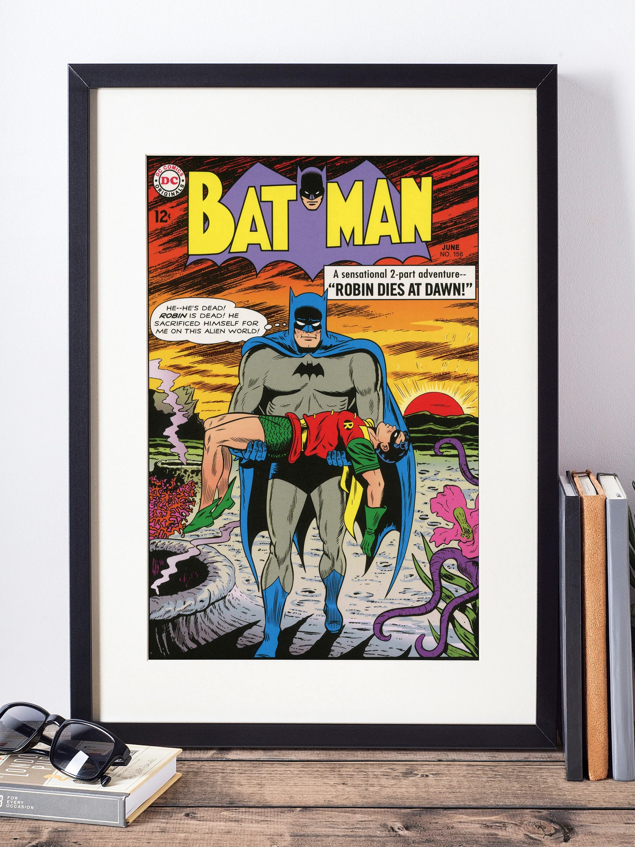 Comic Wall Decor Dc Comics Wall Art Batman And Robin Cover Print Matted And