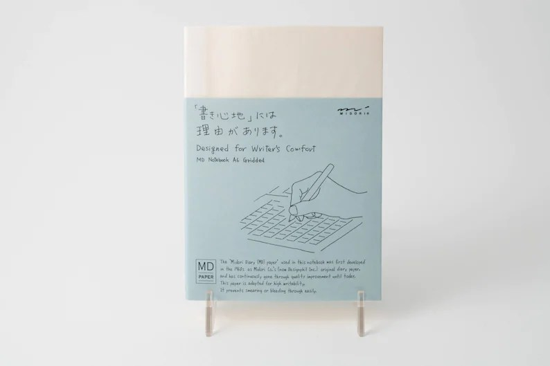 Midori MD Notebook A6 size grid lined or blank paper Etsy