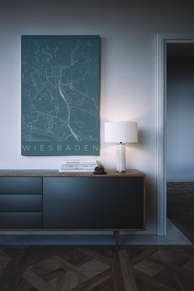 Ikea Bank Wiesbaden Map Of Wiesbaden Hesse Fits Ikea Frame Decor Wall Art Wanderlust Germany Print Travel Map Housewarming Gift Long Distance