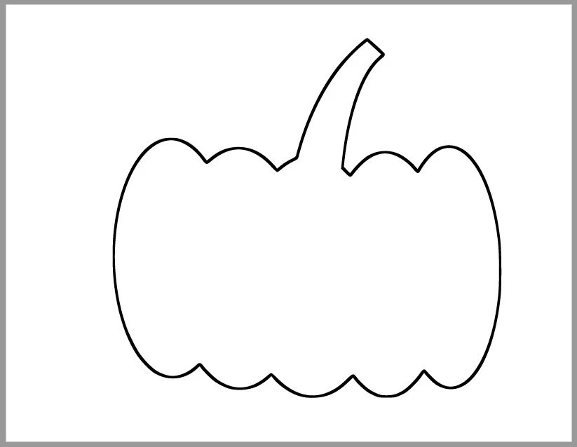 7 inch Pumpkin Template-Printable Templates-Fall Etsy
