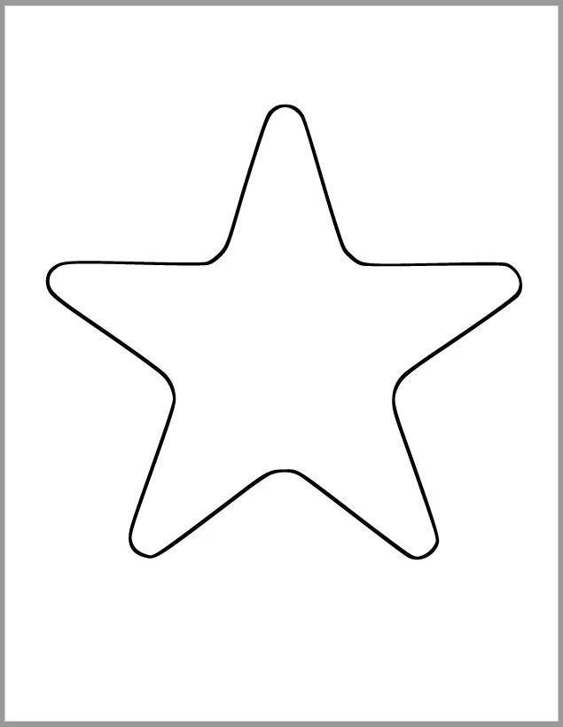 Printable Star Template-7 inch Starfish Cutout-Baby Shower Etsy