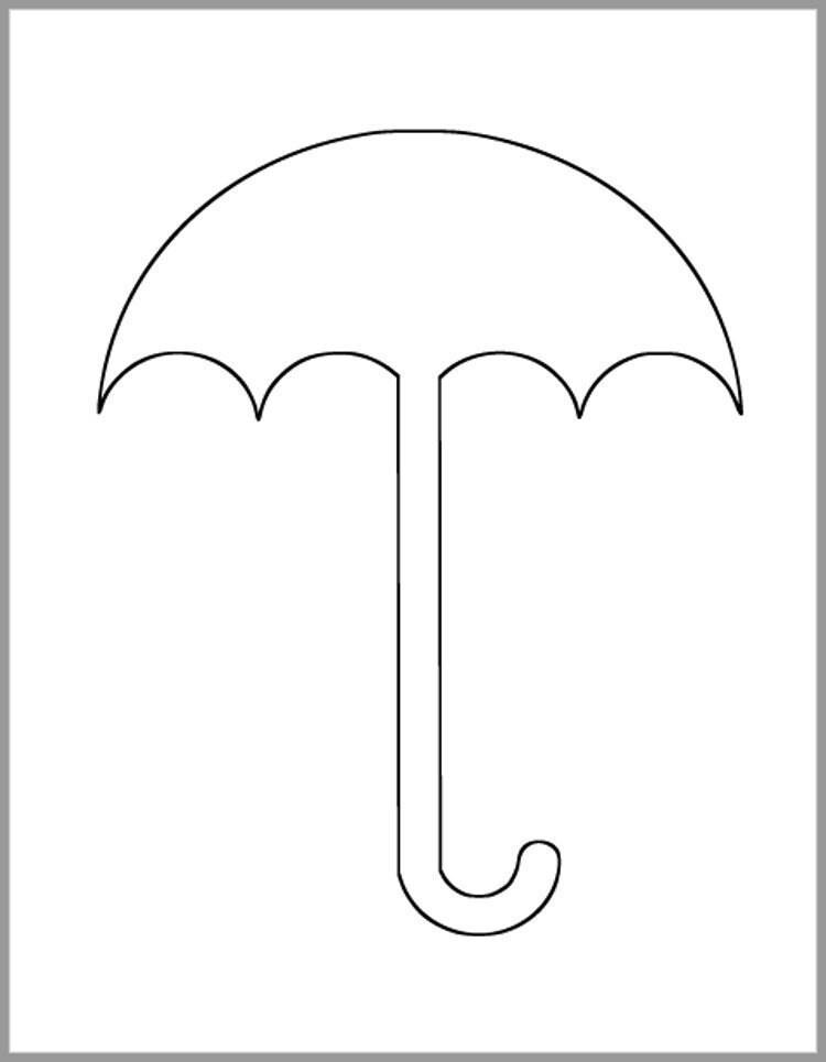 85 inch Umbrella Template-Instant Download Cutouts-Umbrella Etsy