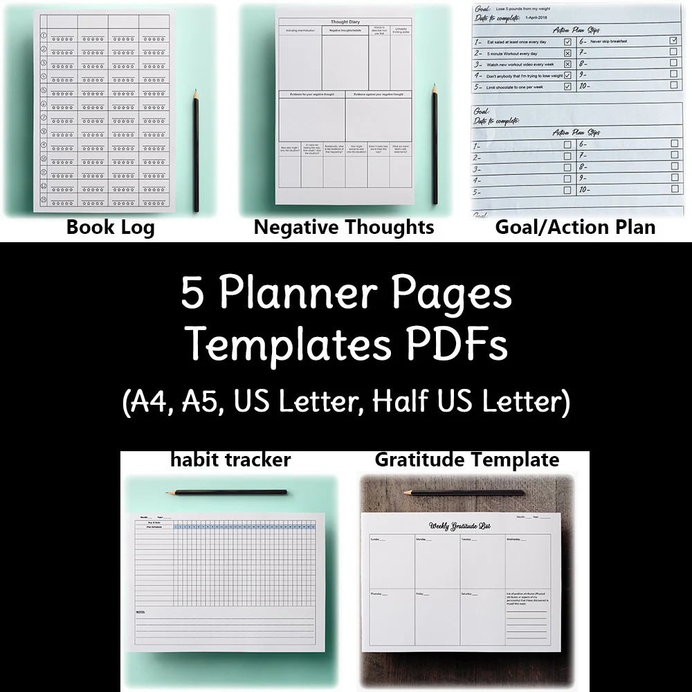2019 New Year Planner Templates Digital Journal Personal Etsy
