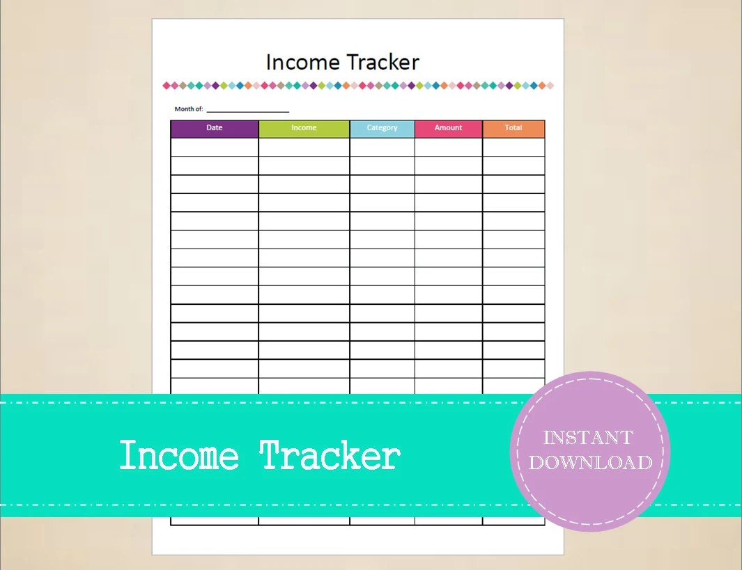 Income Tracker Business Planner Sales Tracker Small Etsy