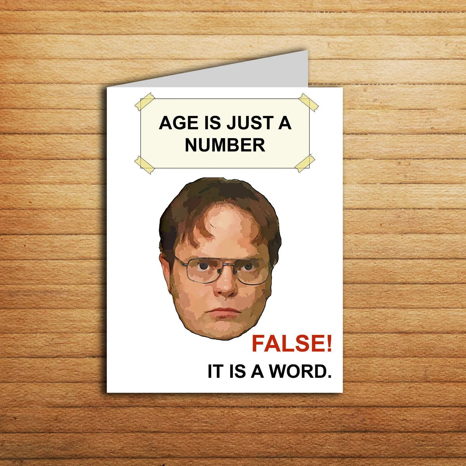 The Office tv show Birthday Card Printable The Office cards Etsy