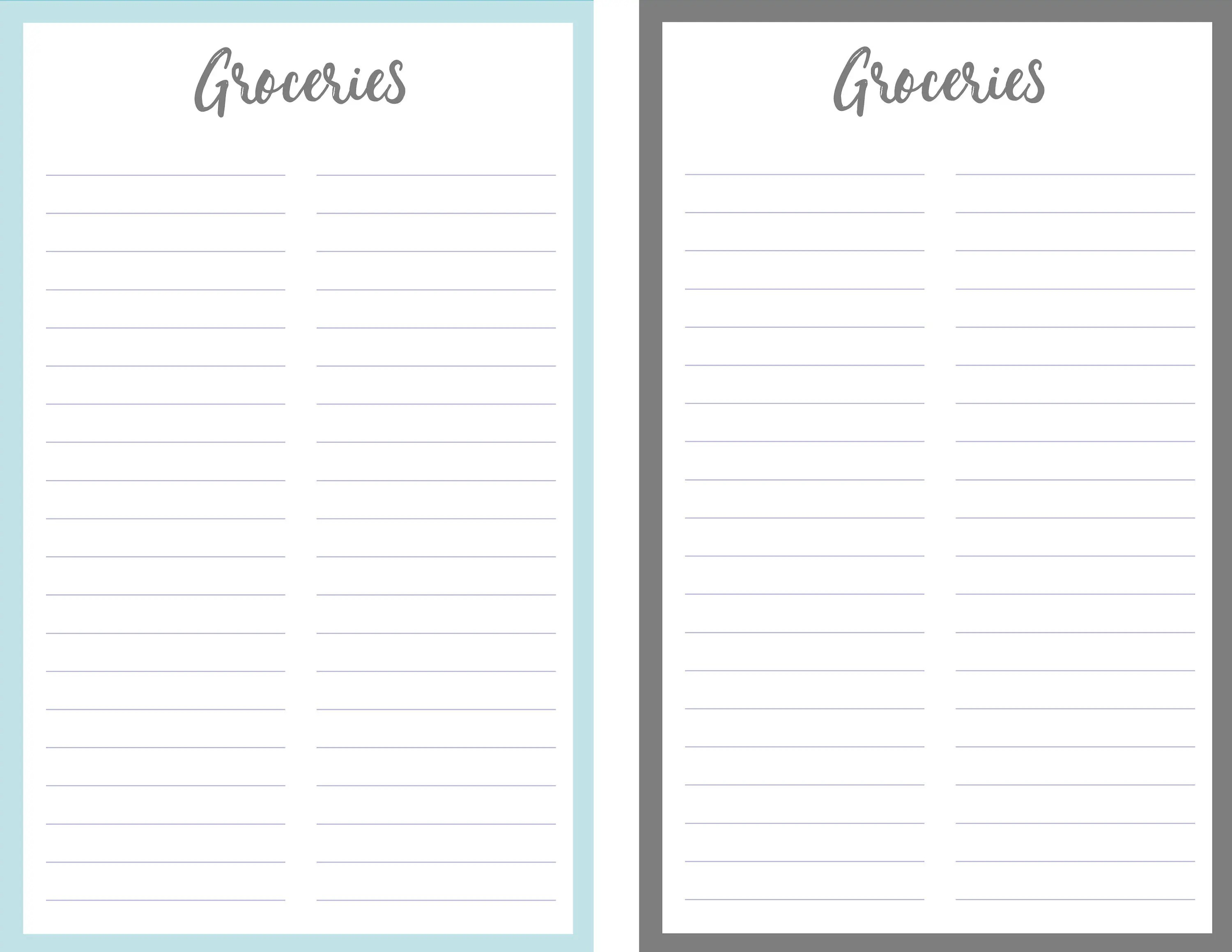 Grocery list Unique Grocery list PDF Instant Download Printable List  Shopping List - Keep Track of Foods to Buy for your Kitchen