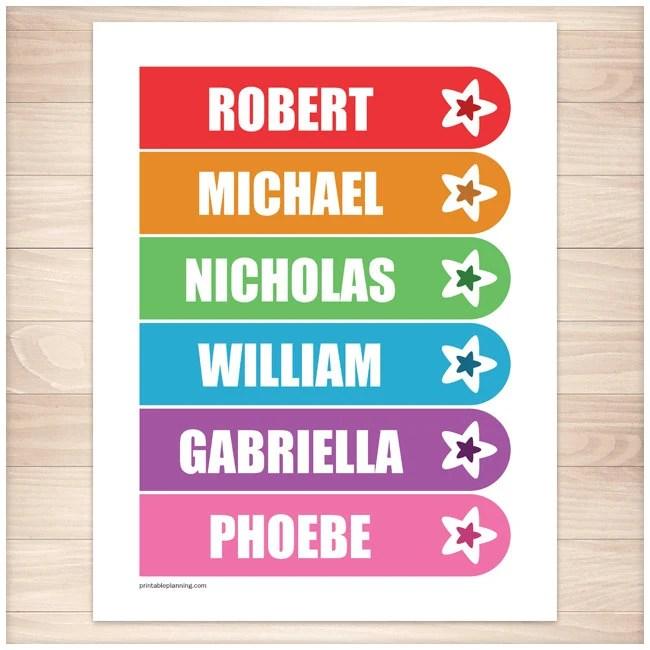 Printable Personalized Rainbow Star Bookmarks Editable PDF Etsy
