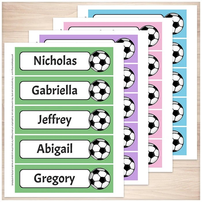 Printable Personalized Soccer Bookmarks Green Purple Pink Etsy