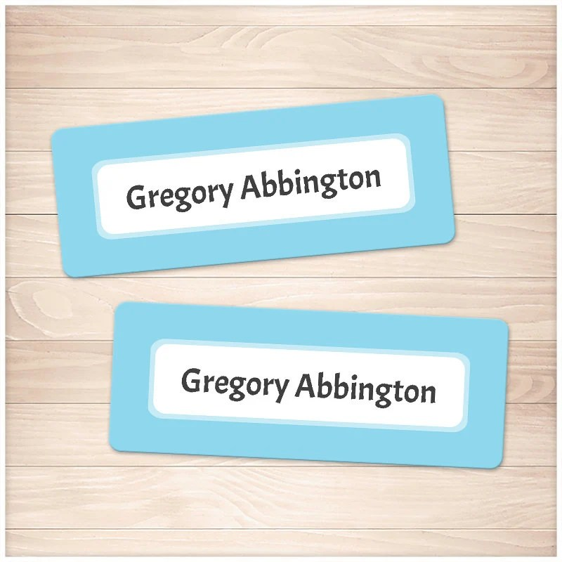 Printable Blue Name Labels for School Supplies Personalized Etsy