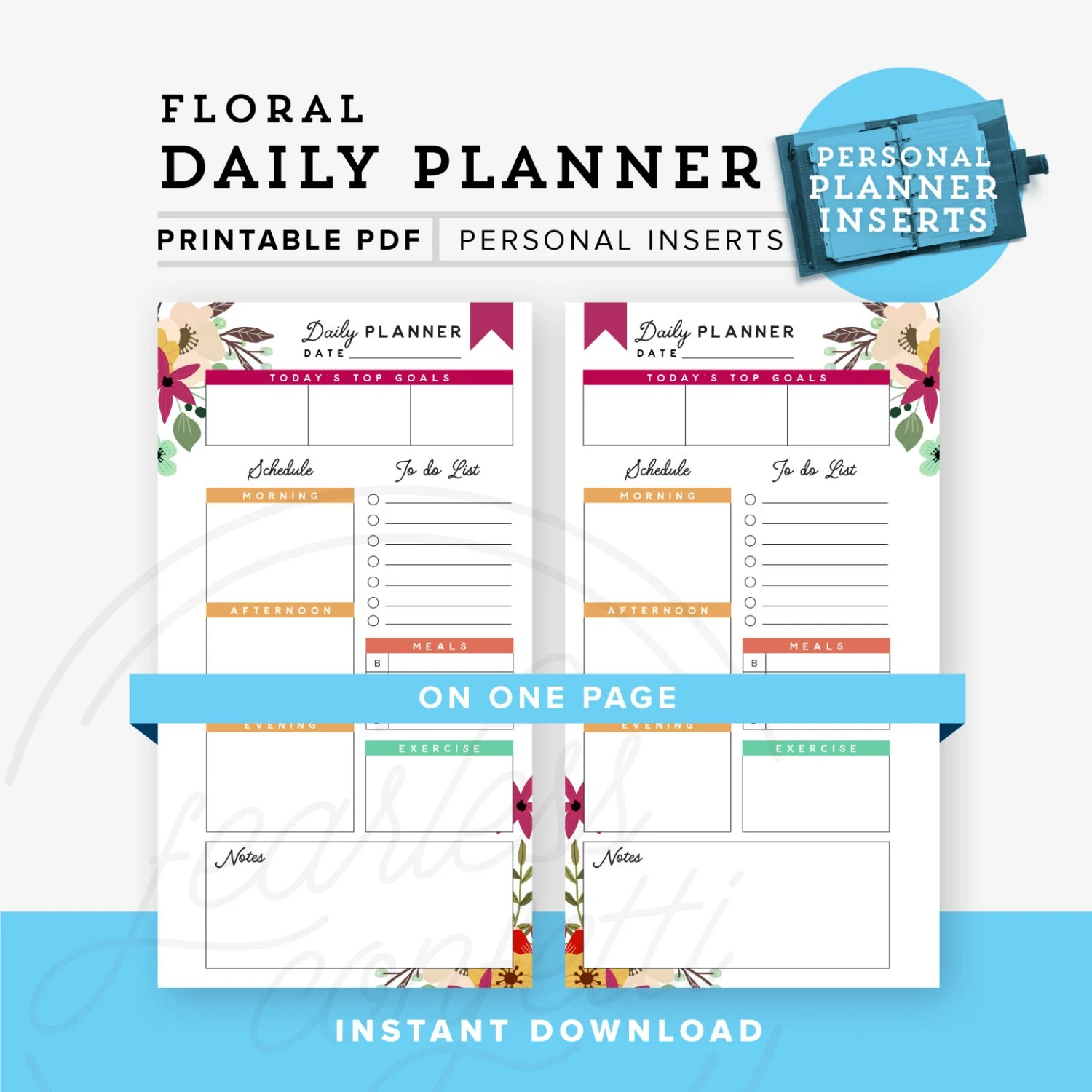 Daily Planner Personal Planner Printable Personal planner Etsy