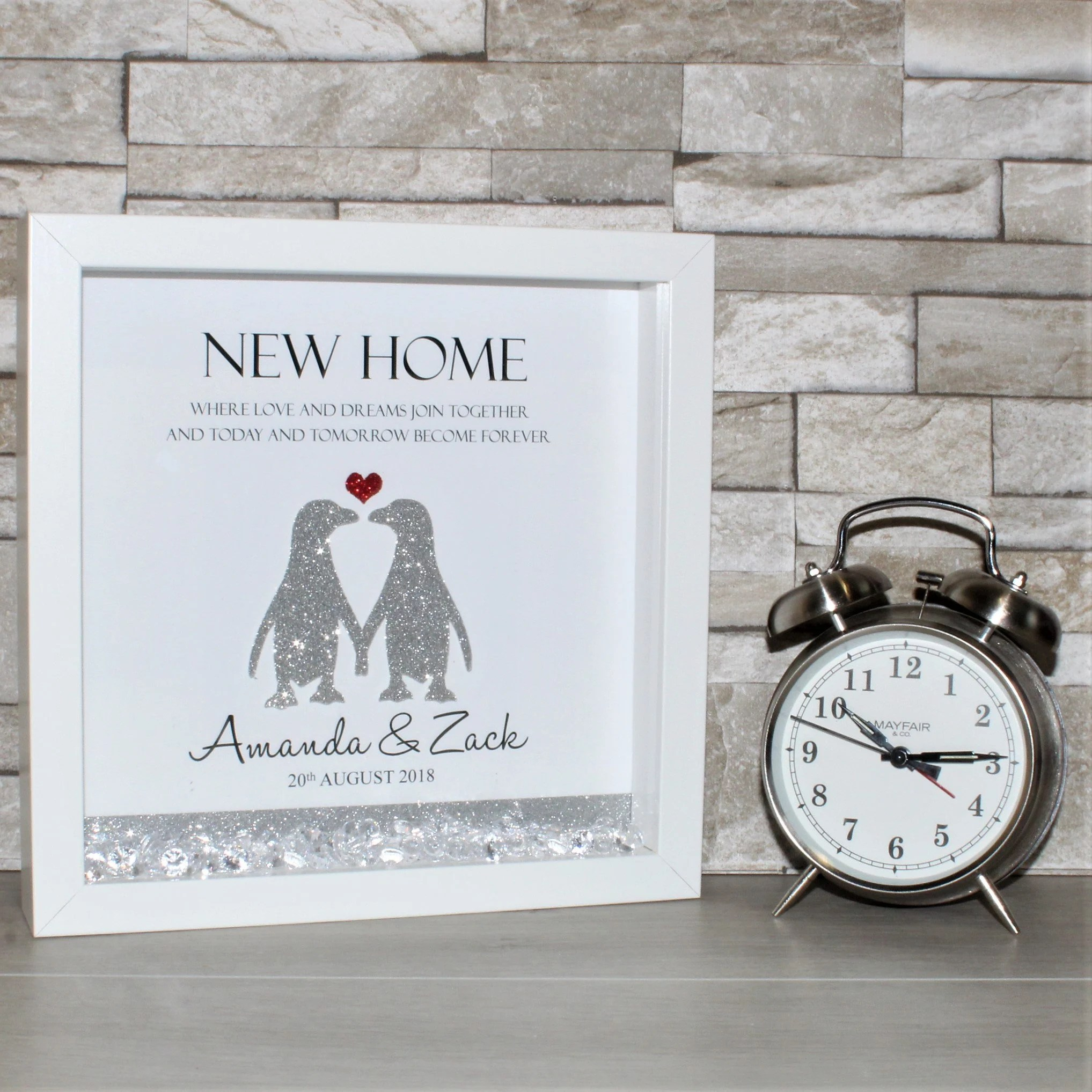 Personalised New Home Gifts Personalised New Home Frame First Home Gift New House Gift New Home Box Frame New Home Frame Housewarming Gift Personalised First Home