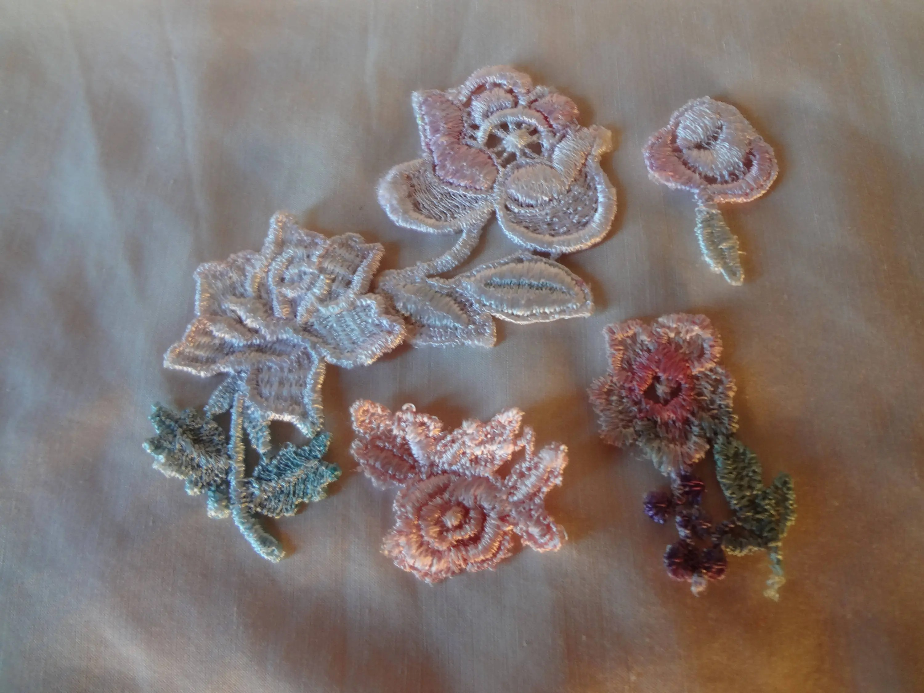 Appliques Vintage Vintage Appliques Batch Of Five Flowers From The 80 S Sew On
