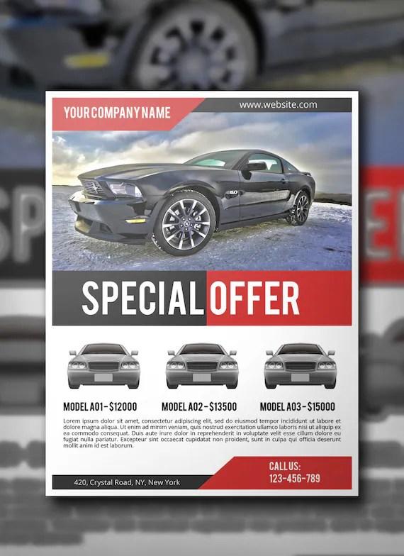 Car Sale Flyer PSD Template Commercial Flyer Template Etsy - car sale flyer template